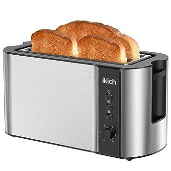 IKICH 2 Long Slot 1300W 4-Slice Toaster