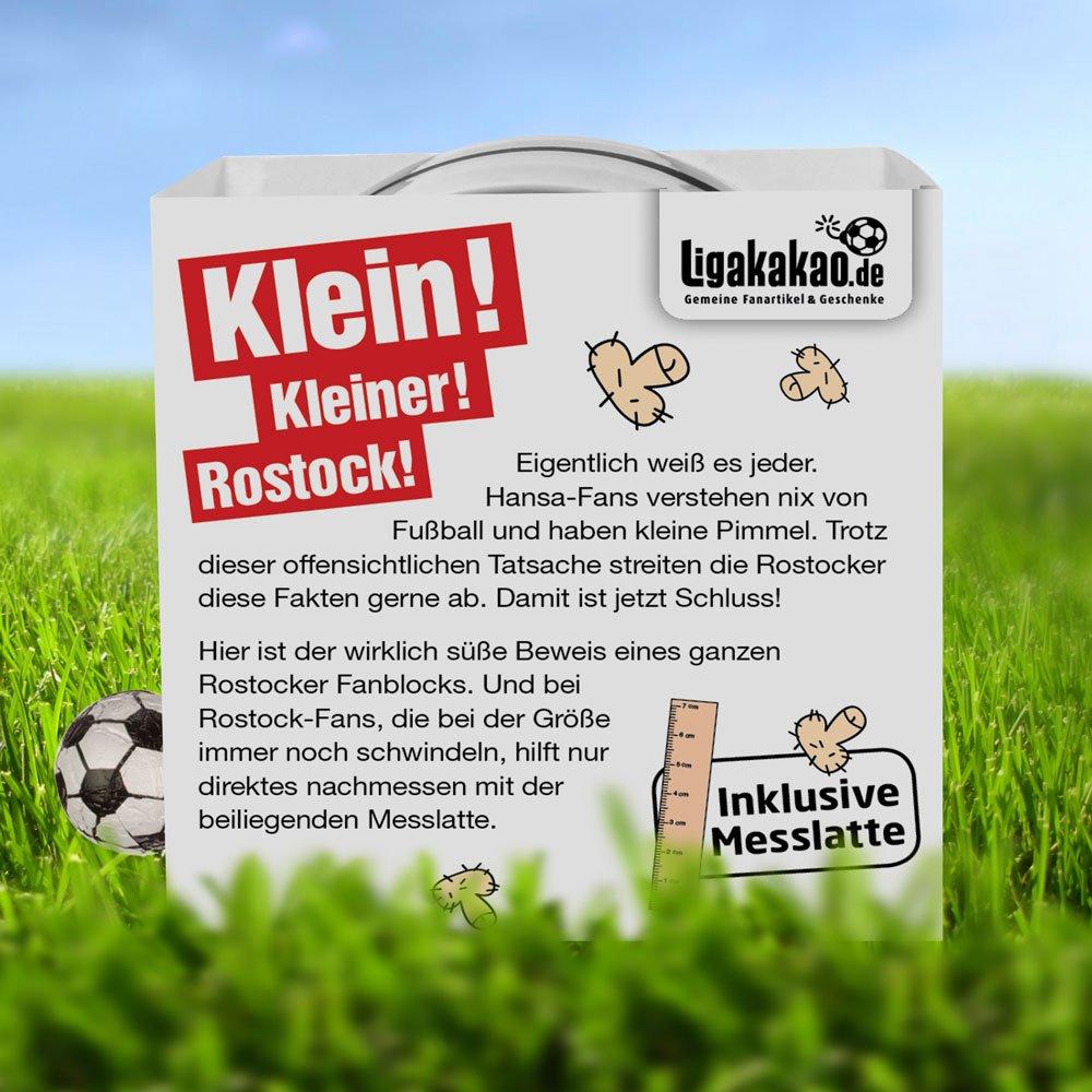 inklusive Messlatte zum Lachen /& Vergleichen by Ligakakao.de F/ür mehr Spa/ß in der Liga! Rostocker Kleine Pimmel Echt gemein leckere Fruchtgummi f/ür Rostock-Fans