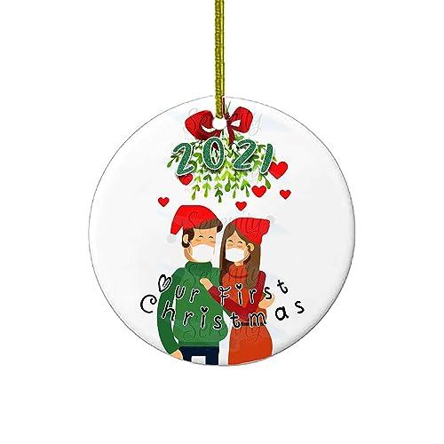 quarantine ornament 2020 Christmas ornament handmade white elephant gifts funny Christmas social distancing ornament lockdown ornament