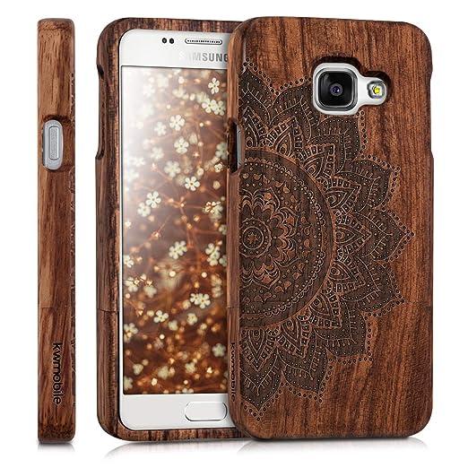 kwmobile Samsung Galaxy A3 (2016) Hülle - Handy Schutzhülle aus Holz - Cover Case Handyhülle für Samsung Galaxy A3 (2016)