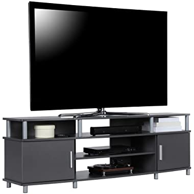 Ameriwood Home Carson TV Stand for TVs up to 70 , Graphite Gray
