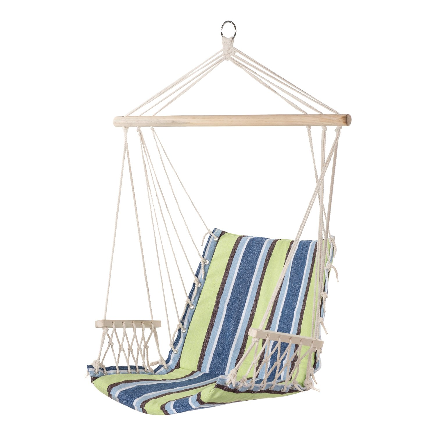 Amazon Com Pg Prime Garden Hanging Rope Chair Cotton Padded Swing