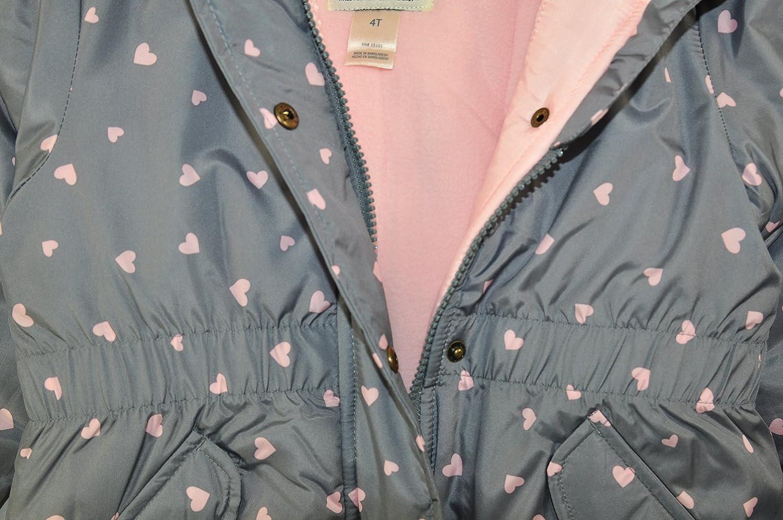 OshKosh BGosh Osh Kosh Little Girls Hooded Cinched Heavyweight Jacket Coat