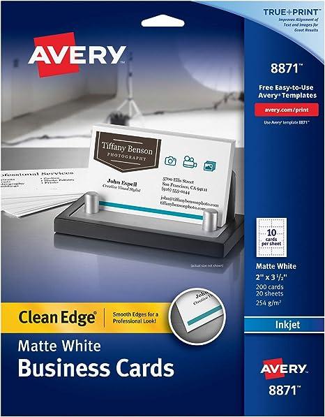 Amazon.com: Tarjetas de empresa, de Avery, bordes lisos ...
