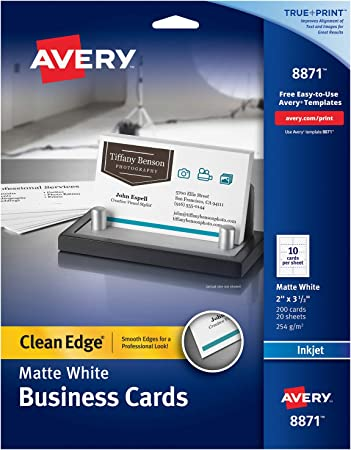 Avery Printable Business Cards