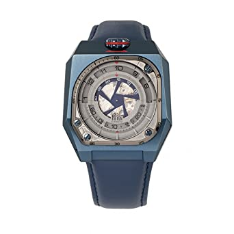 233345db532 Amazon.com  Reign Asher Automatic Sapphire Crystal Leather-Band ...