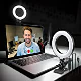 HAFOKO CL05 Videokonferenzbeleuchtung Desktop Vlog LED Licht Live Mit Saugnapf Soft Fill Light Lampe 3200K-6500K Kompatibel Mit Laptop Computer Live Streaming Online Meeting Selbst/übertragung