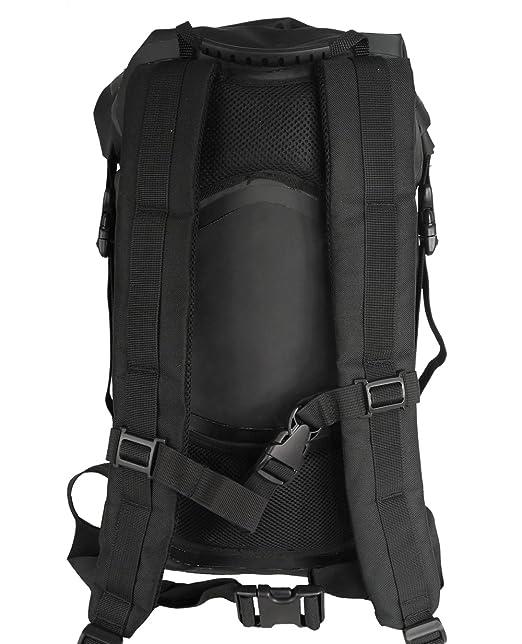 Lomo 30L Mochila Impermeable - Bolsa seca de moto - Negro: Amazon.es: Deportes y aire libre