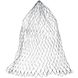 Ainstsk Replacement Net Bag,Durable Landing Net for Fly Fishing Trout Bass Net Soft Rubber Mesh Catch and Release Net