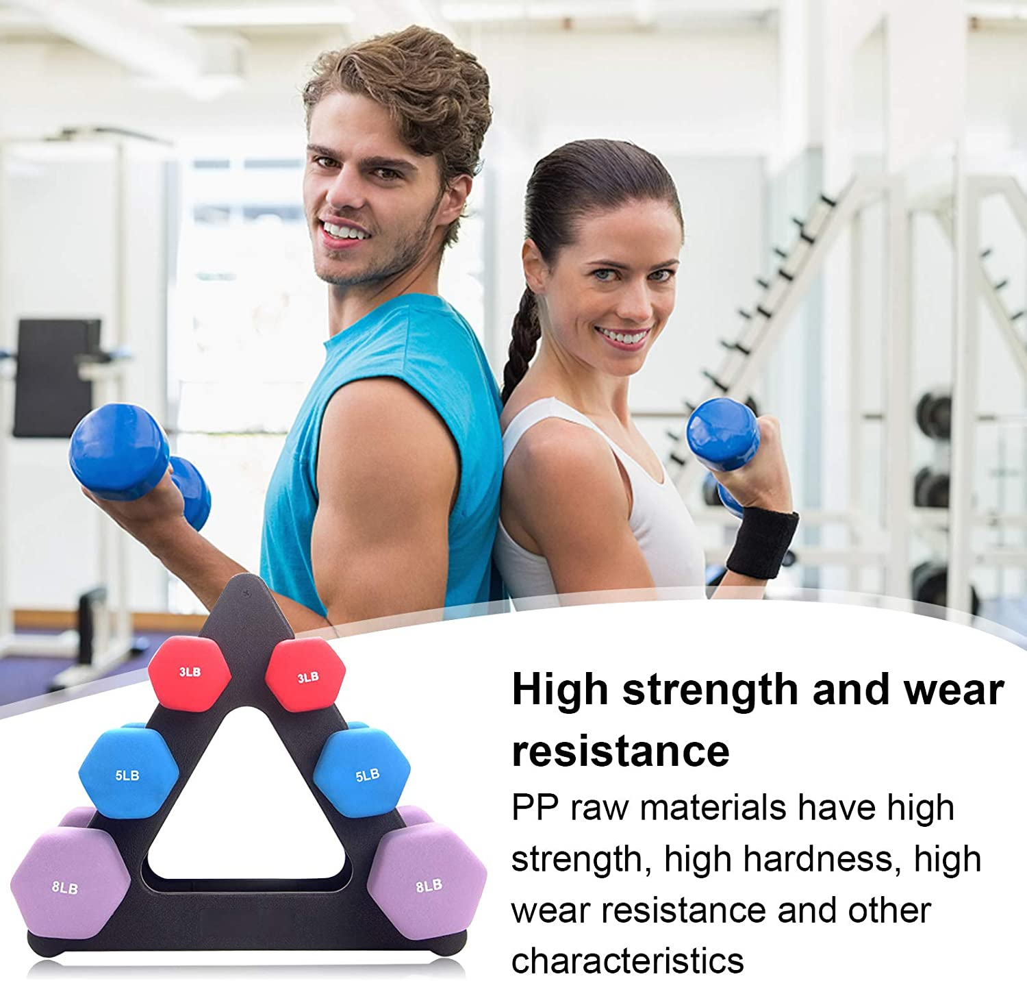 Intelligence Dumbbell Rack Stand, Weight Rack Weight Tree Rack, 3 Tiers Dumbbell Set with Rack Strength Training Weight Racks Hand Weight Rack for Home Gym Organization : Sports & Outdoors