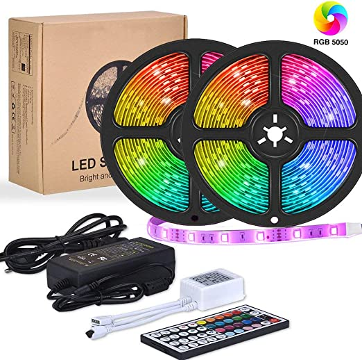 44Keys IR Remote Control 5M RGB 5050 SMD 300 Leds Waterproof LED Strip Light