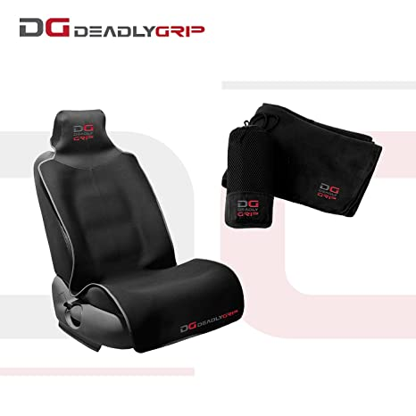 Fine Deadly Grip Dg Car Seat Cover Protector And Body Shammy Waterproof Good For Pets Babys And Your Automobile Non Slip Back Black Gray Front With Andrewgaddart Wooden Chair Designs For Living Room Andrewgaddartcom