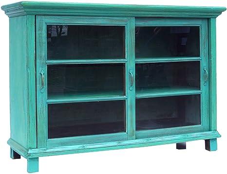 Credenza Con Ante In Vetro : Guru shop credenza cassettiera con ante scorrevoli in vetro