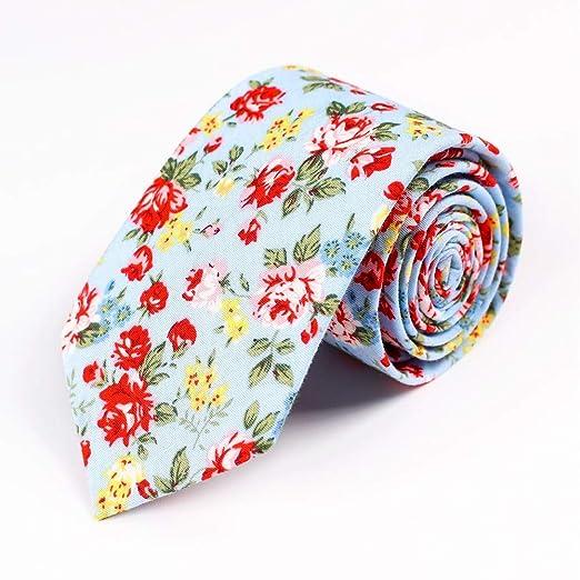 YXCM Corbata para Hombres Versión Estrecha de algodón de Moda ...