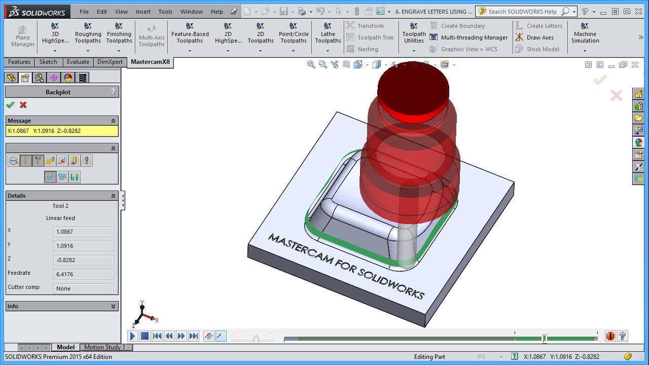 Amazon mastercam for solidworks x8 x9 mill video tutorial hd dvd baditri Image collections