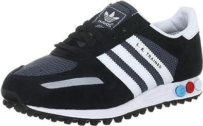 adidas Originals LA Trainer Black Suede