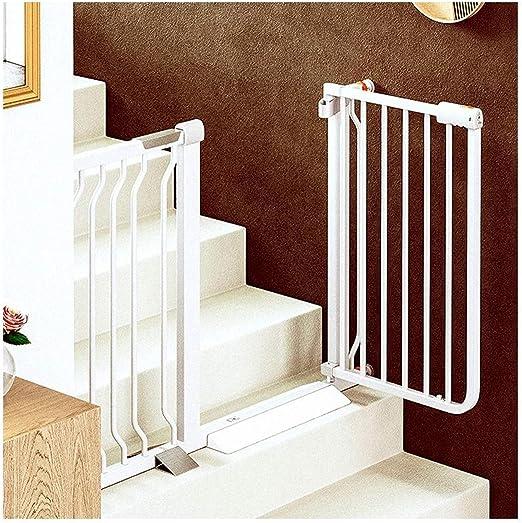 Puerta de seguridad del bebé Ampliable bebé de seguridad for niños Puerta En las escaleras recorren con chimenea cierre automático extra ancho cerca del perro de animal doméstico seguridad de la puert: