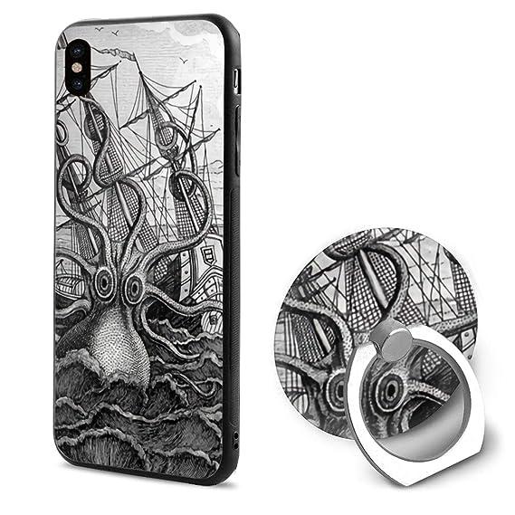 Amazon Com Ocean Wave Yacht Sea Monster Octopus Tpu Case Ring