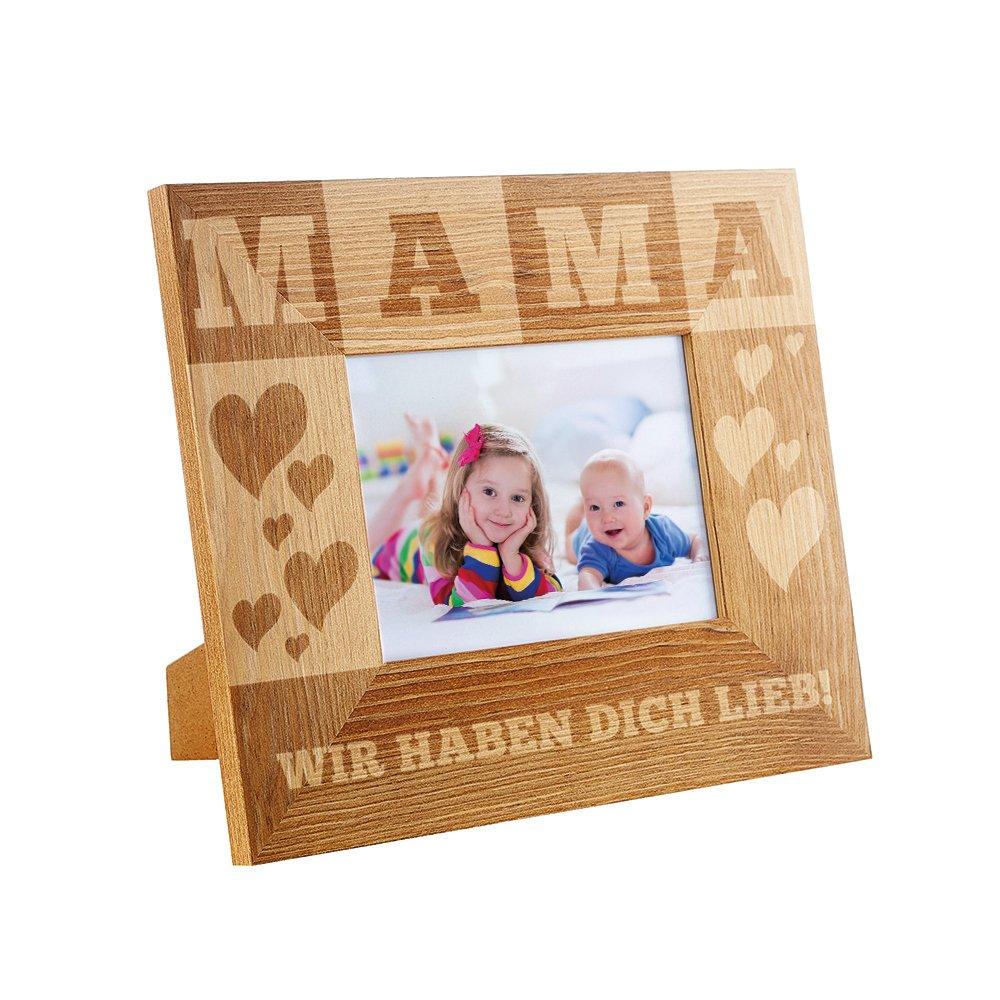Amazon.de: Casa Vivente Bilderrahmen mit Gravur für Mama - Standard ...
