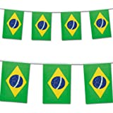 2016 Brazil Olympic Flag Bunting Banner 7 Metres 25 Large Flags