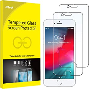 JETech 2-Pack Screen Protector for iPhone 6, iPhone 6s, iPhone 7, and iPhone 8, Tempered Glass Film, 4.7-Inch