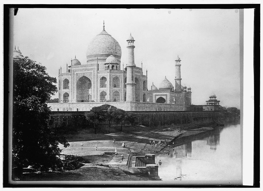 Vintography 16 x 20 Reprinted Old Photo Asia. India, Agra Taj Mahal 1914 National Photo Co 86a