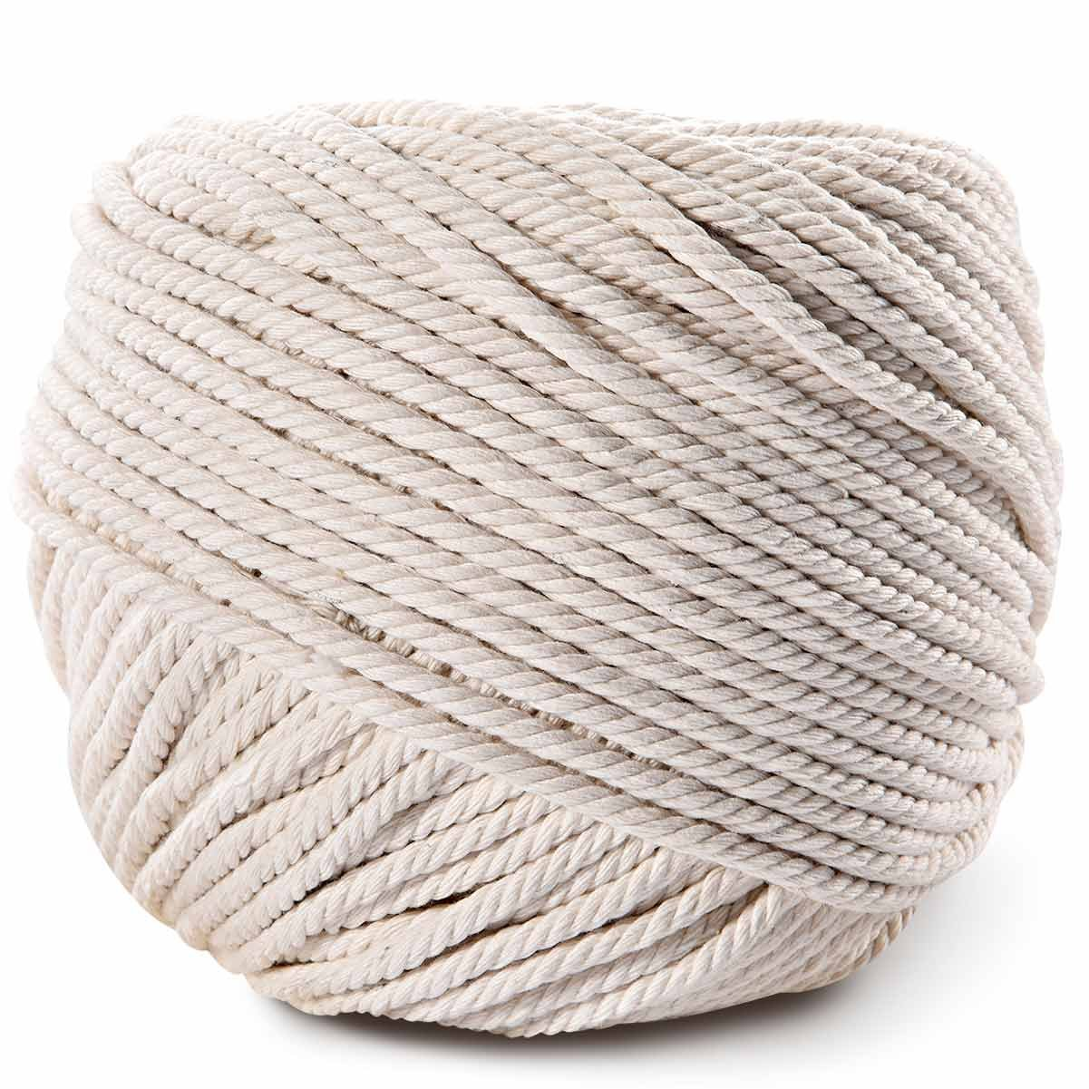 Macrame Cord,LOOMY 4mm 109 YD Natural Cotton Rope and Macrame Handmade Crafts Supplies Best for Wall Hanging Plant Hanger Making
