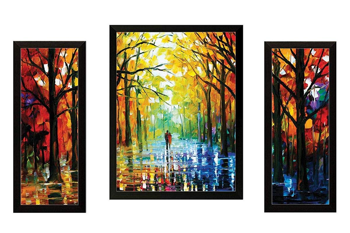 Paintings Villa Uv Textured Modern Art Print Framed Painting Home Decoration Size 35 X 2 X 50 Cm Amazon In Home Kitchen