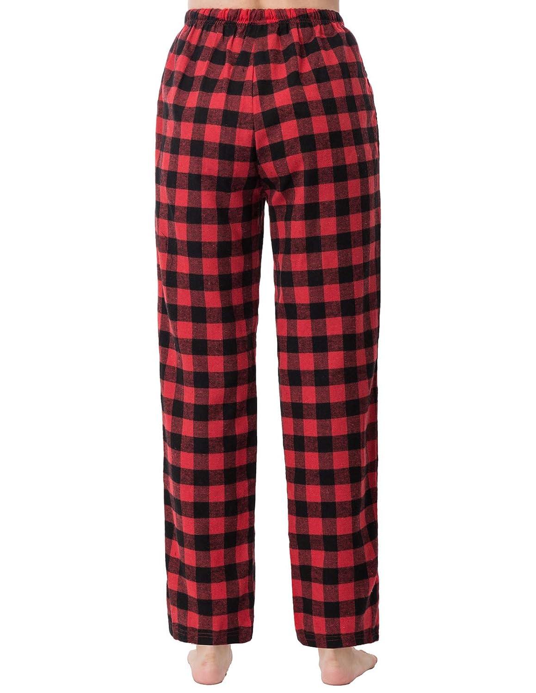 Zexxxy Womens Christmas Pajama Pants with Pockets Cotton Pajama Bottoms Warm Sleep Pants S-XXL
