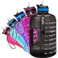 "QuiFit Drinkfles van 2,2 liter, met opschrift: ""Drink Stichtung"" & Flip Stro, grote drinkfles, fitness, gym, onderweg…"
