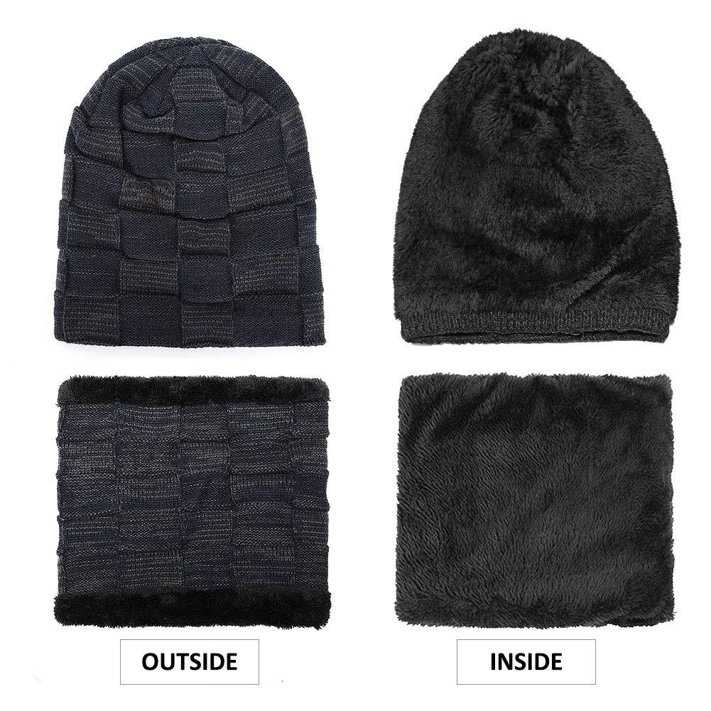 BOYOU Unisex Uomo//Donna Inverno Caldo Cappello Knit Allaperto Peluche Ispessimento Maglia Cappello da Sci per linverno