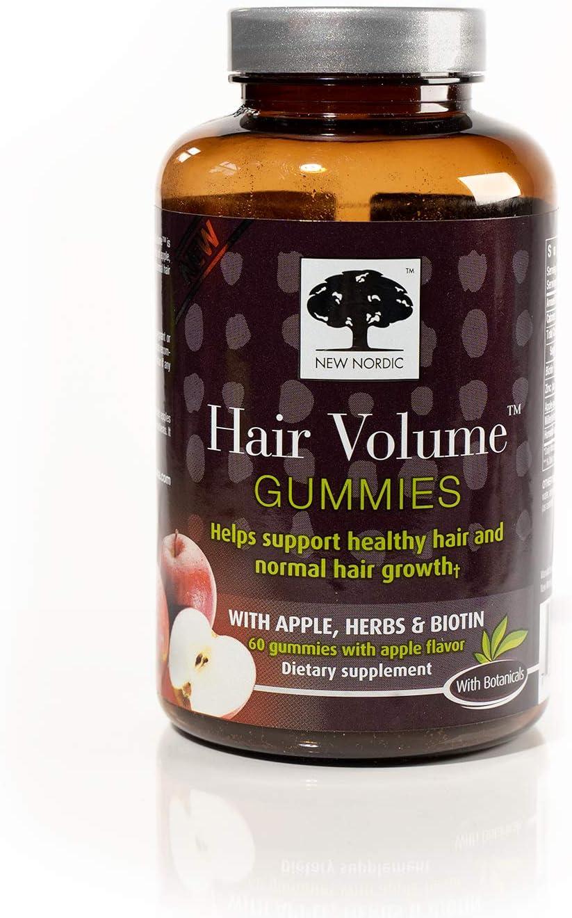 New Nordic Hair Volume Gummies, 60 Count (Pack of 6)