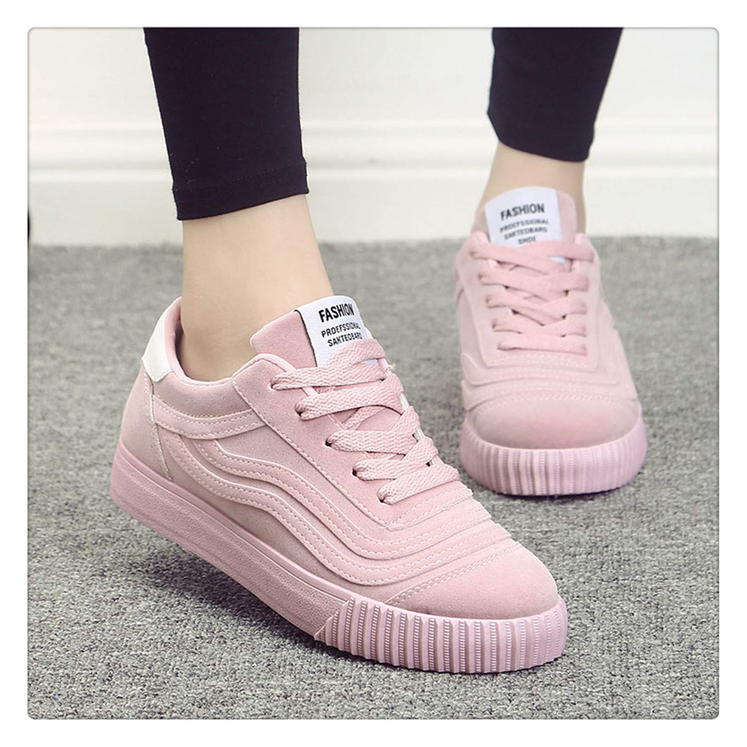 dd3839c1510b7 Amazon.com | Brands Canvas Women Sneakers Fashion Pink Shoes for ...
