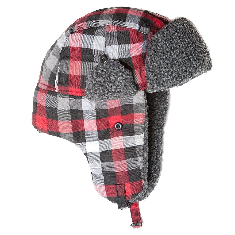 Accessoryo Unisex Red Gingham Design Trapper Hat Available in 58cm or 60cm