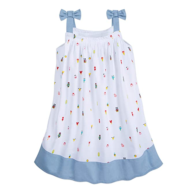 Disney Mickey and Minnie Mouse Summer Fun Woven Dress for Girls Multi