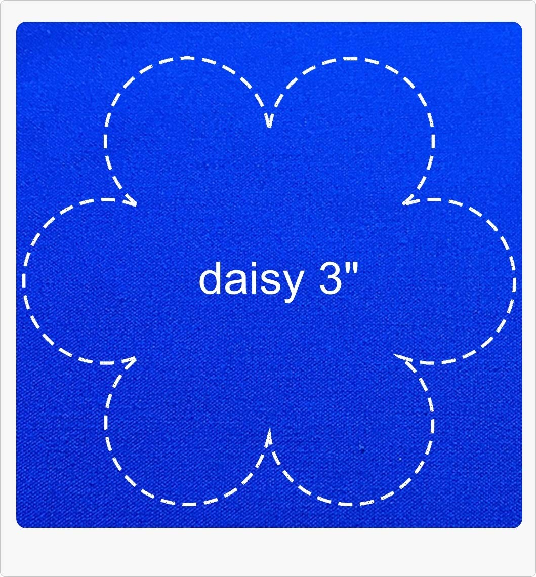 Set Templates for Quilting Daisy Flower for block 3 Inches Star