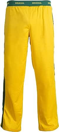 JL Sport Unisex Bandera del Brasil Verde Amarillo Capoeira para Niños Jóvenes De Artes Marciales Elásticos Pantalones De Los Deportes De Los Pantalones