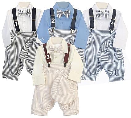 70f05d3eb55 Amazon.com  Baby Boys Vintage Suit Suspender Set - Bowtie Knickers Suspender  Suit Set  Clothing