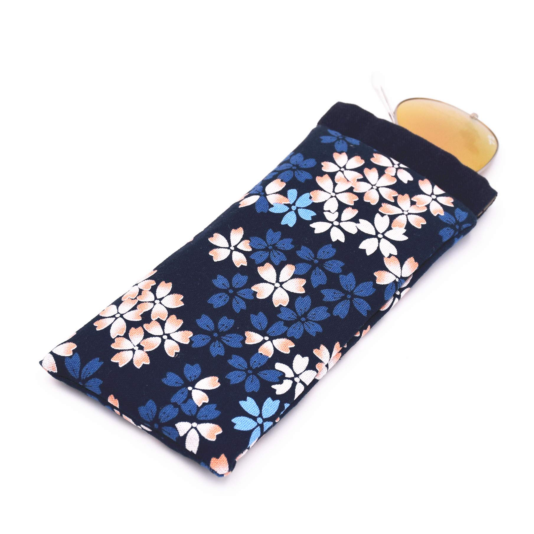 Eyeglass Cases Cotton Eyeglasses Pouch Sunglasses bag with Spring Clip (Sakula 2 PCS) by GGT (Image #5)