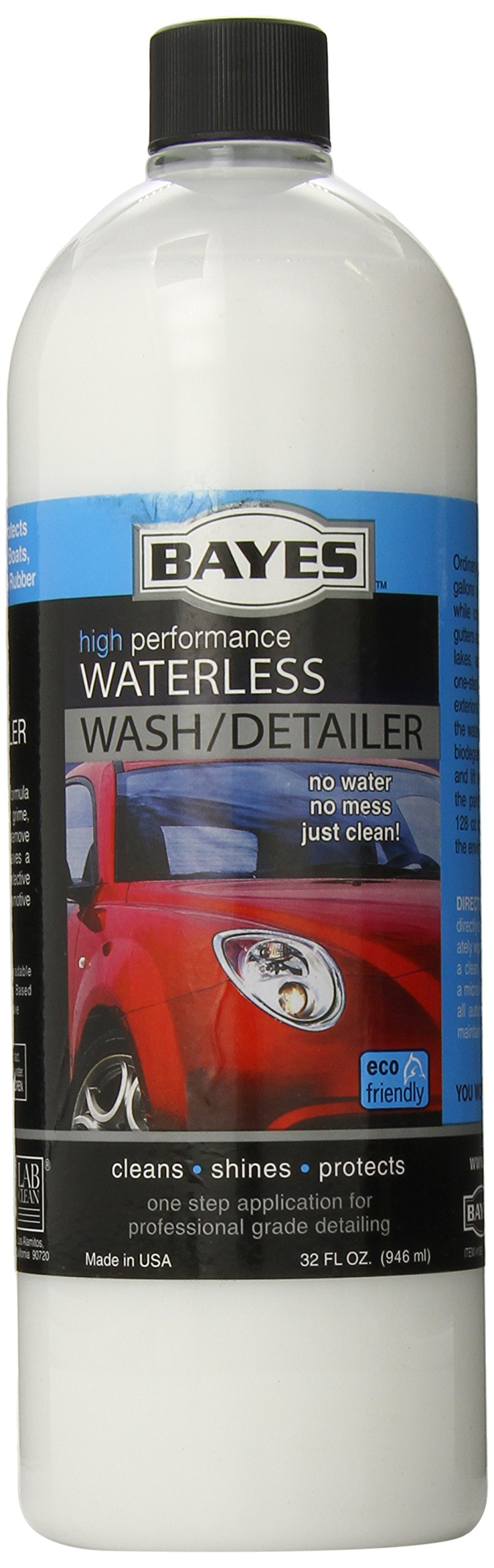 Bayes Premium Waterless Car Wash, 32-Ounce Bottles (Pack of 6)