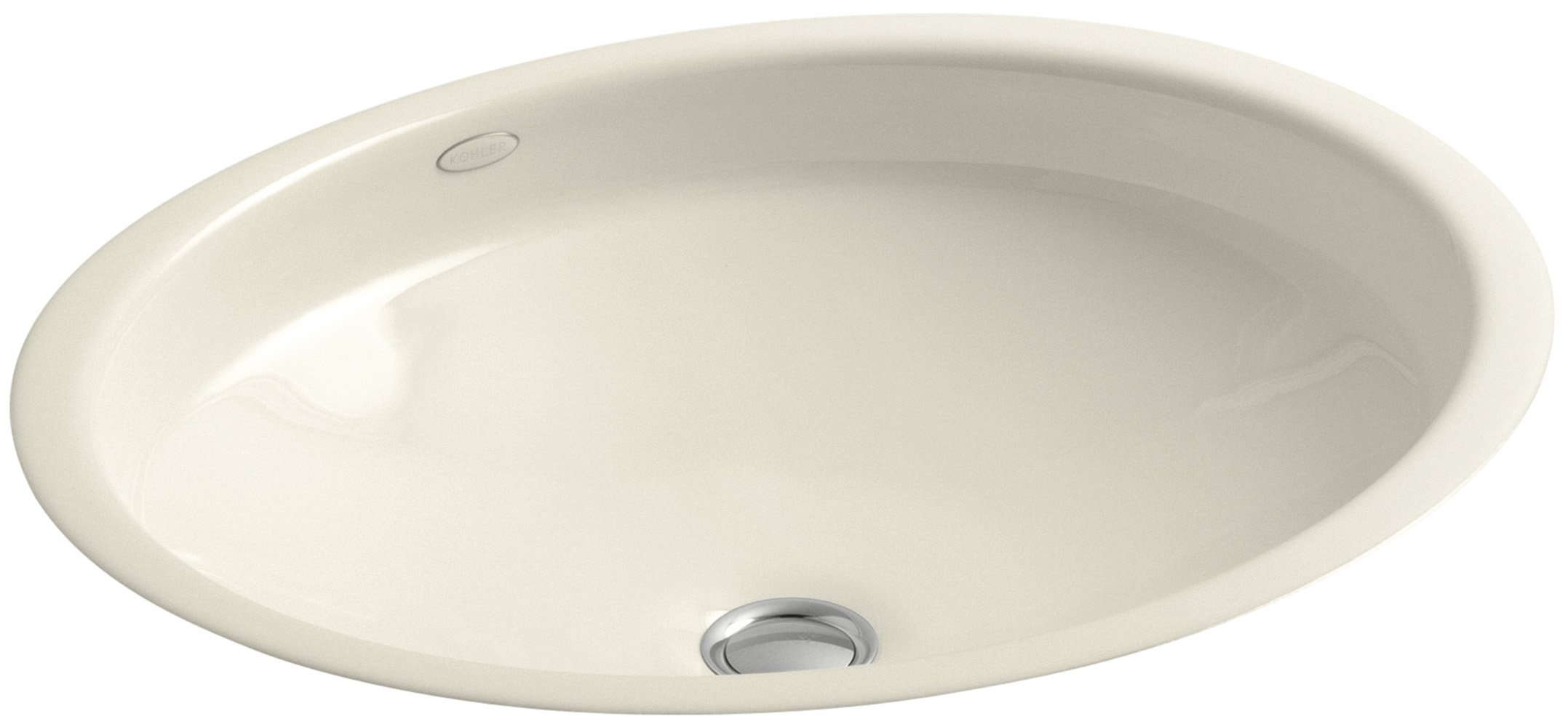 KOHLER K-2874-47 Canvas Cast Iron Bathroom Sink, Almond by Kohler