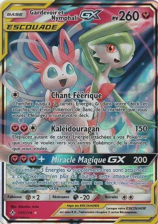 FR Gardevoir et Nymphali GX PV 260 130//214 Carte POKEMON