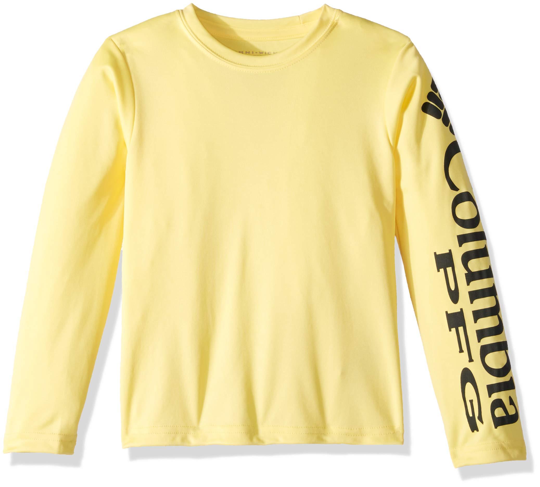 Columbia Boys' PFG Terminal Tackle Long Sleeve Tee , Sunlit, Grill Logo, X-Large