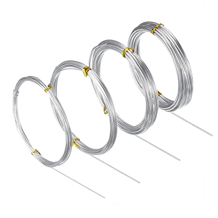 Amazon bbto silver aluminum craft wire 4 sizes 1 mm 15 mm bbto silver aluminum craft wire 4 sizes 1 mm 15 mm 2 greentooth Image collections