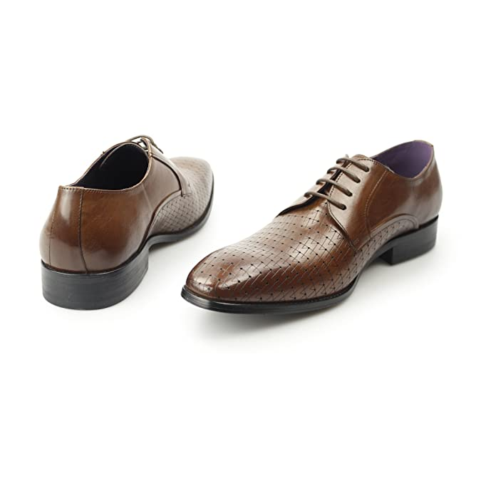 55e7956ae80b5 Gucinari BESO Mens Leather Laser Cut Derby Shoes Tan 43  Amazon.co.uk  Shoes    Bags