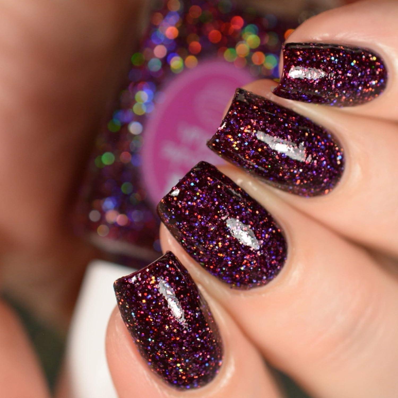 Amazon.com: Garnet - burgundy glitter holographic nail polish by ...