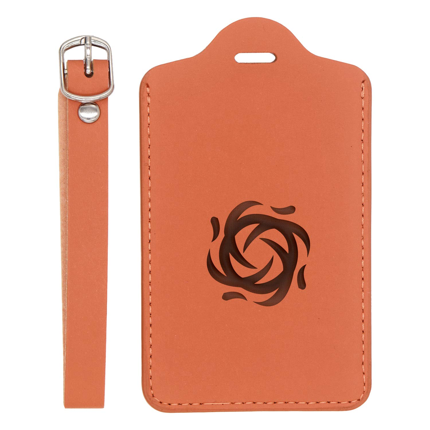 London Tan - Set Of 2 - United States Standard Sehun Wind Exo K Kpop Engraved Synthetic Pu Leather Luggage Tag Handcrafted By Mastercraftsmen For Any Type Of Luggage