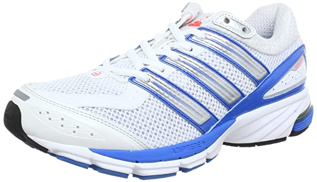 Amazon.com | adidas RESP CUSH 21 M White Silver Blue Mens Running Shoes G61870 [US size 9.5] | Shoes