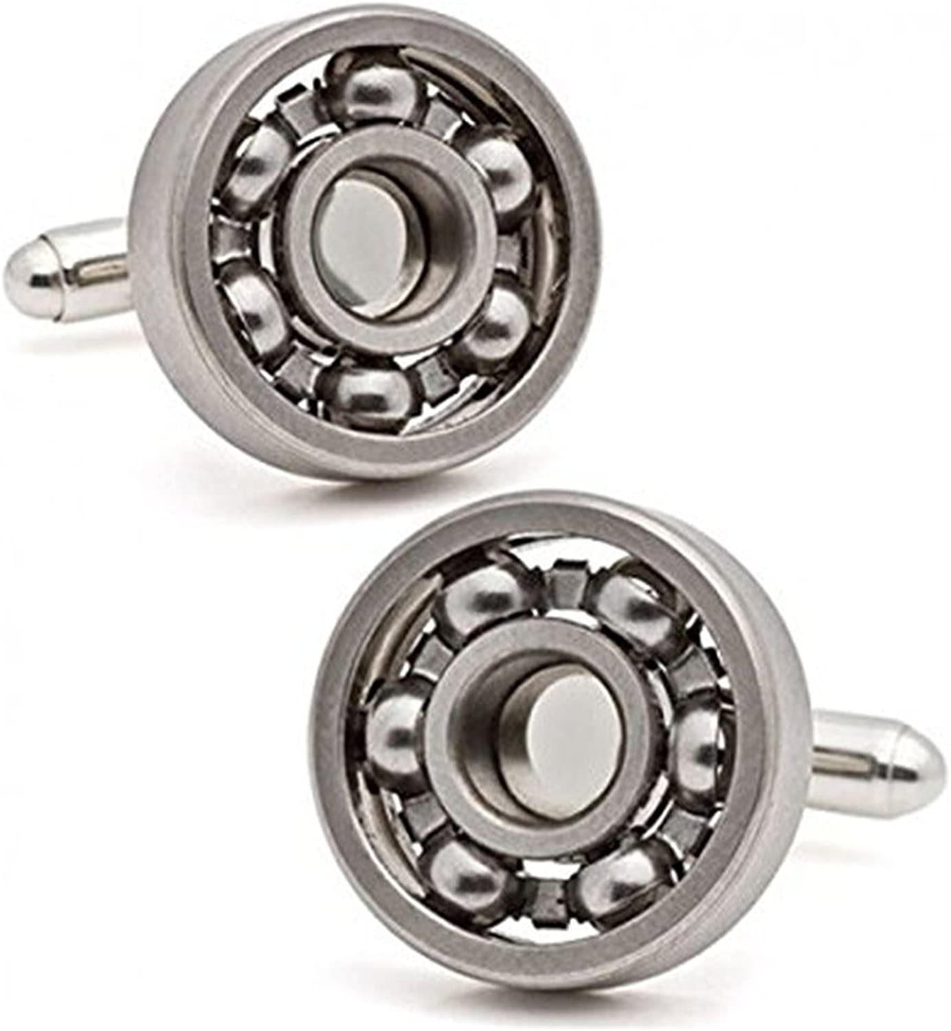 Stainless Steel Wedding Gift Shirt Cuff Links Stylish Designer Bearing Cufflinks