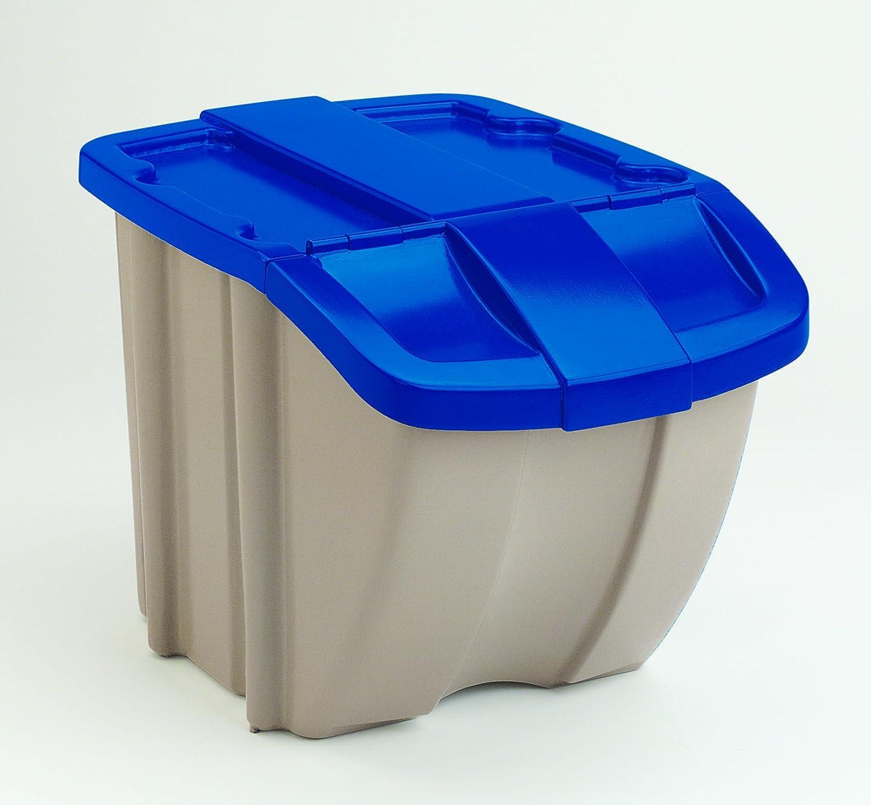 Suncast BH181812 Home Storage, 23 1/4 x 16 x 17 3/4, Taupe/Blue